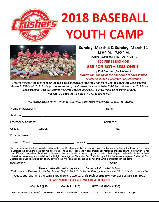 Baseball and Softball Youth Camps Thumbnail Image