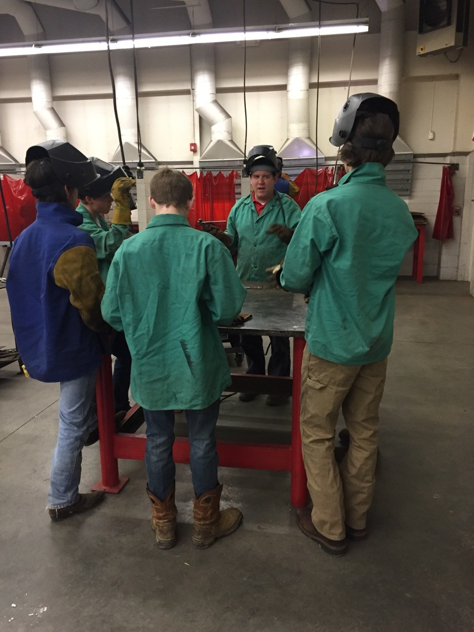 East Wilkes High students welding
