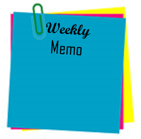 Weekly Memo  May 29, 2017 - June 2, 2017 Thumbnail Image
