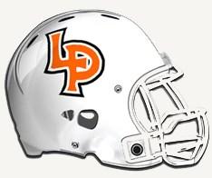LP football helmet graphic