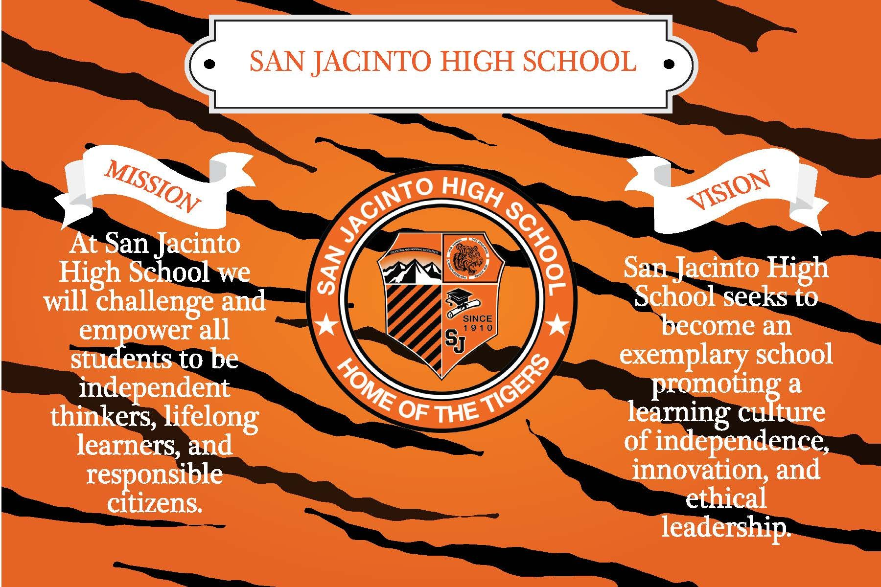 San Jacinto High School Mission and Vision statements