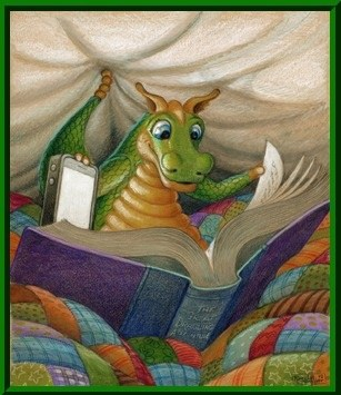 Dragon Reading a book image