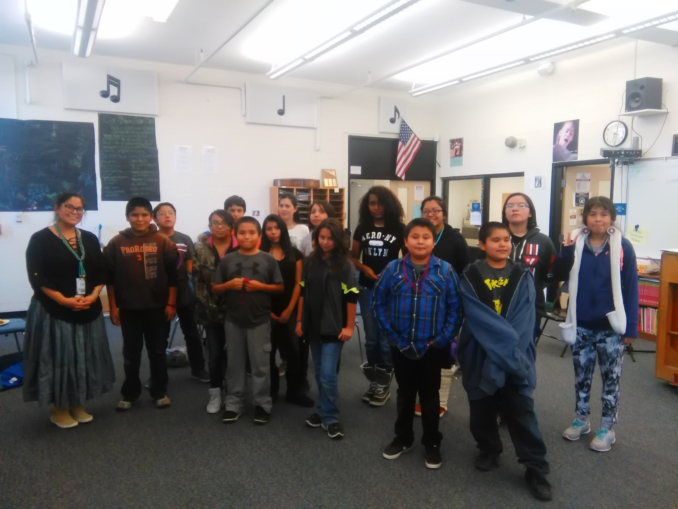 Native american club students