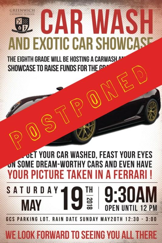 Car Wash Postponed Until June 2nd Thumbnail Image