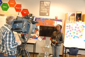 KSDK Ch. 5 interview, GCAA students