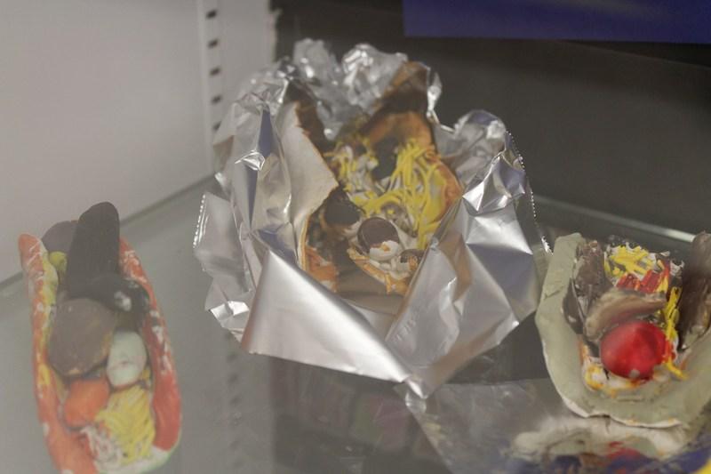 Ceramic tacos created by FMS Ceramics Class
