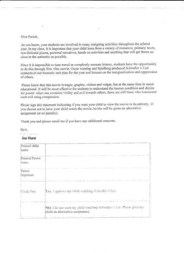 Schindler's List Parent Letter 001.jpg