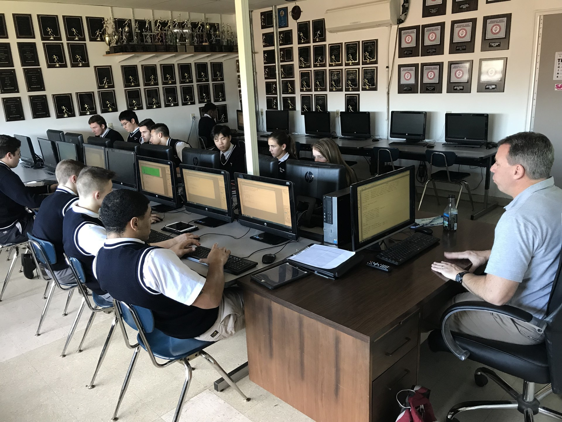 Students working in Computer Science