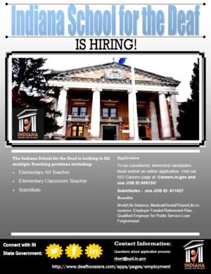 Flyer for job postings