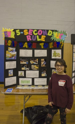 science fair award winner with 5 second rule project