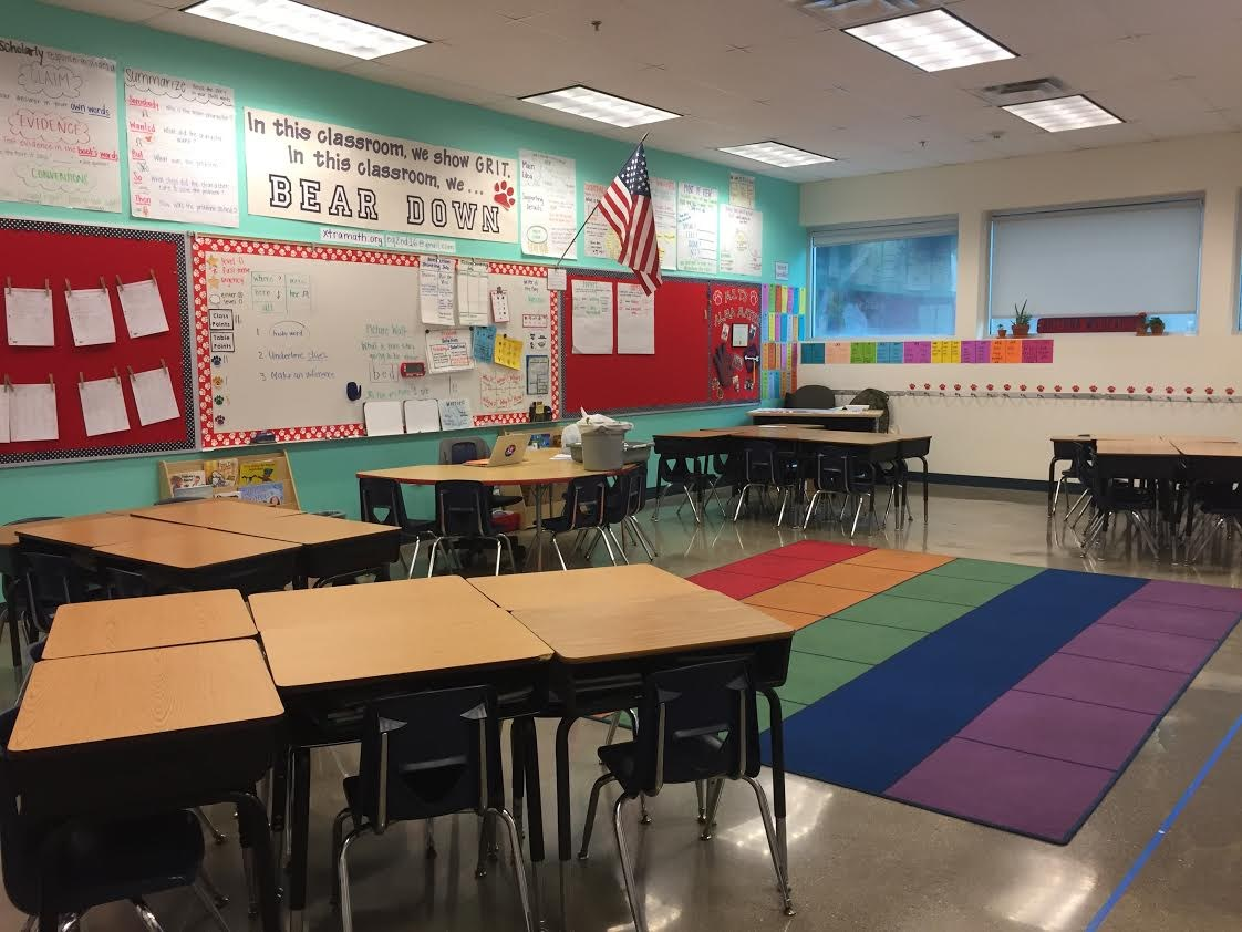 Image of second or third grade classroom at flagship campus.