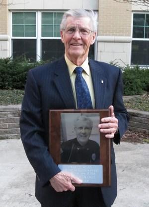 VerHage with his award.