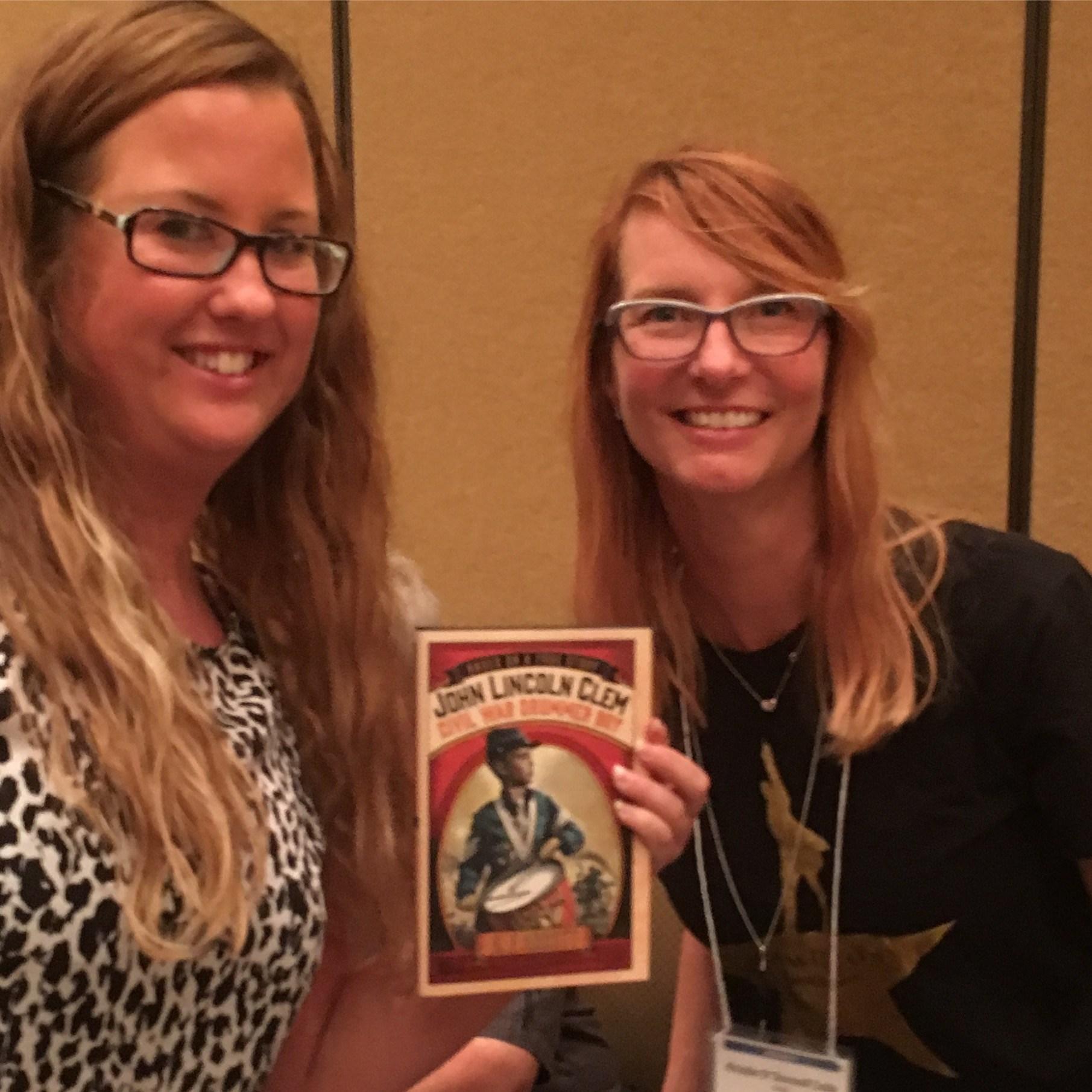 Ms. Rein with author Kristin Tubb 2016