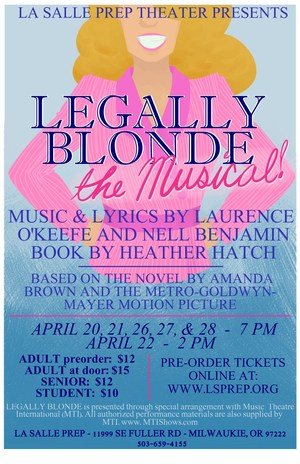 legally blonde play poster