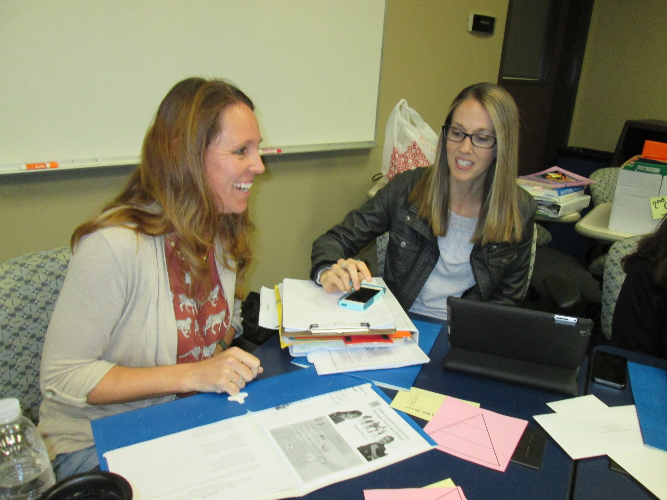 Teachers working at an Elementary training.