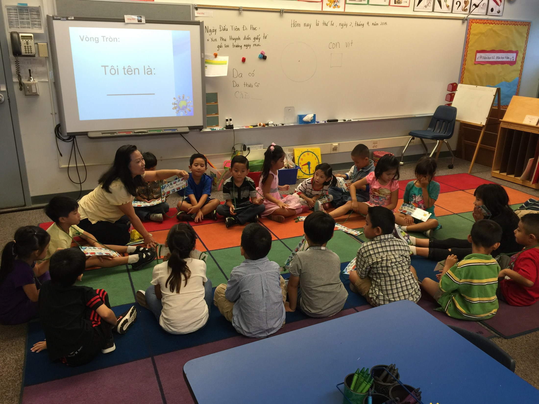 Mrs. Dang's class on the first day