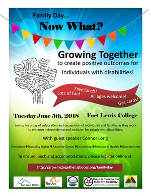 flyer for growing together summit contains text that is repeated in the description of the event