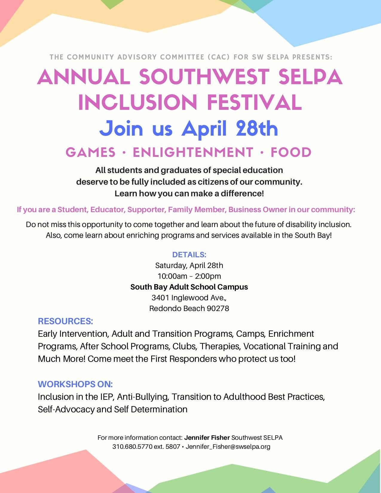 SW SELPA Festival of Inclusion