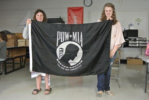 POW/MIA Flat at Missing Man Table Presentation