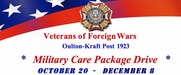 Military Care Package Drive
