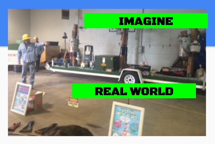 Students learning lesson on Imagine / Real World