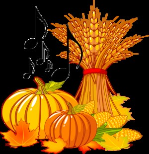 Pumpkins, Corn Stalk, Musical Notes