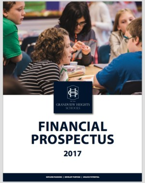 Cover page of financial prospectus