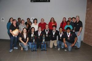 Hemet High's Academic Decathlon Team and their supporters..