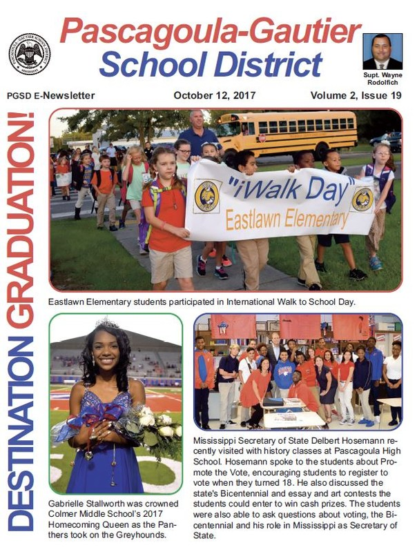 PGSD Newsletter for October 12, 2017