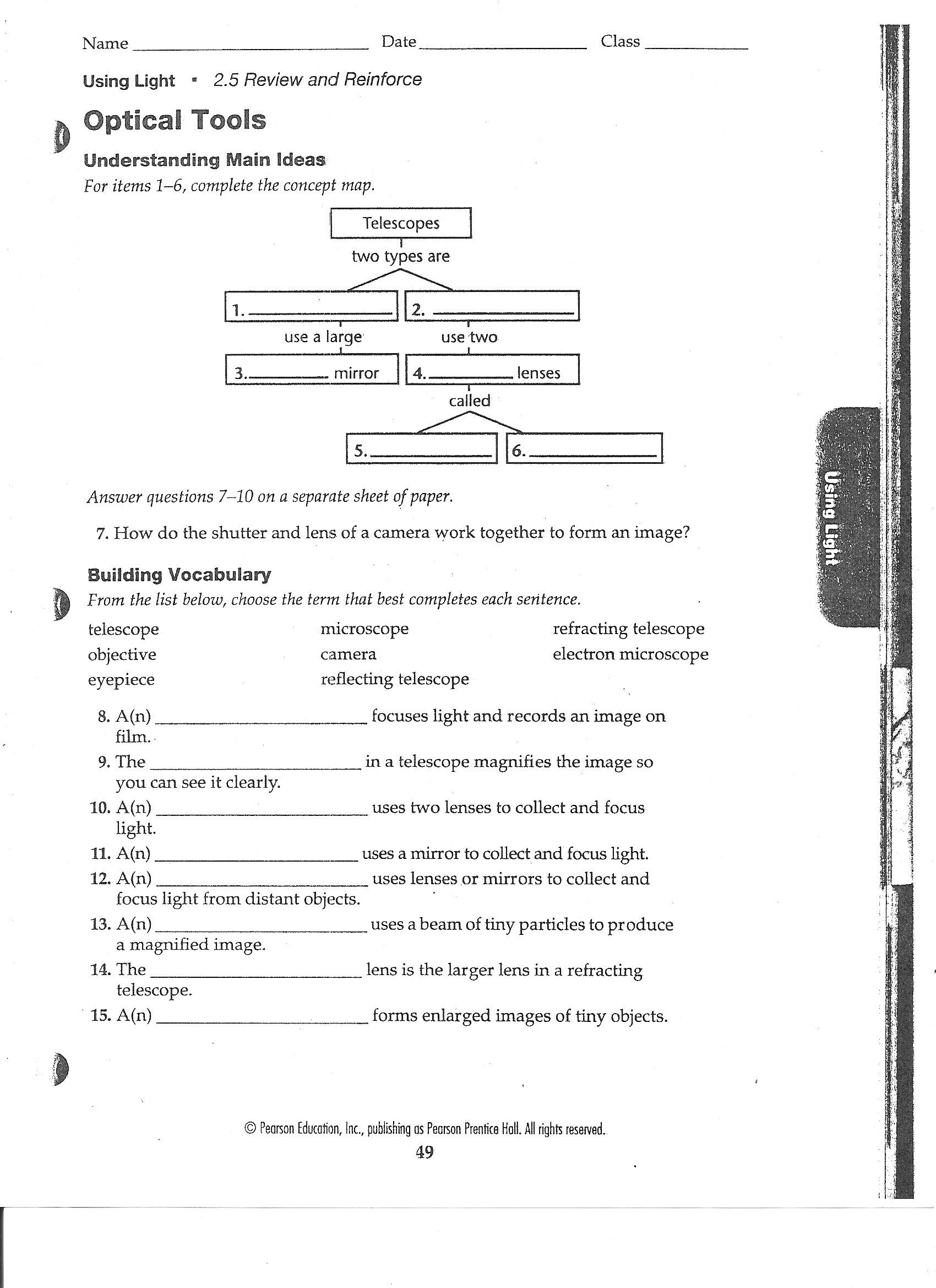 worksheet Looking Inside Cells Worksheet Answers canyon lake middle school optical tools ws 001 jpg