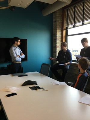 TKHS students pitch ides for apps while visiting Carnevale.