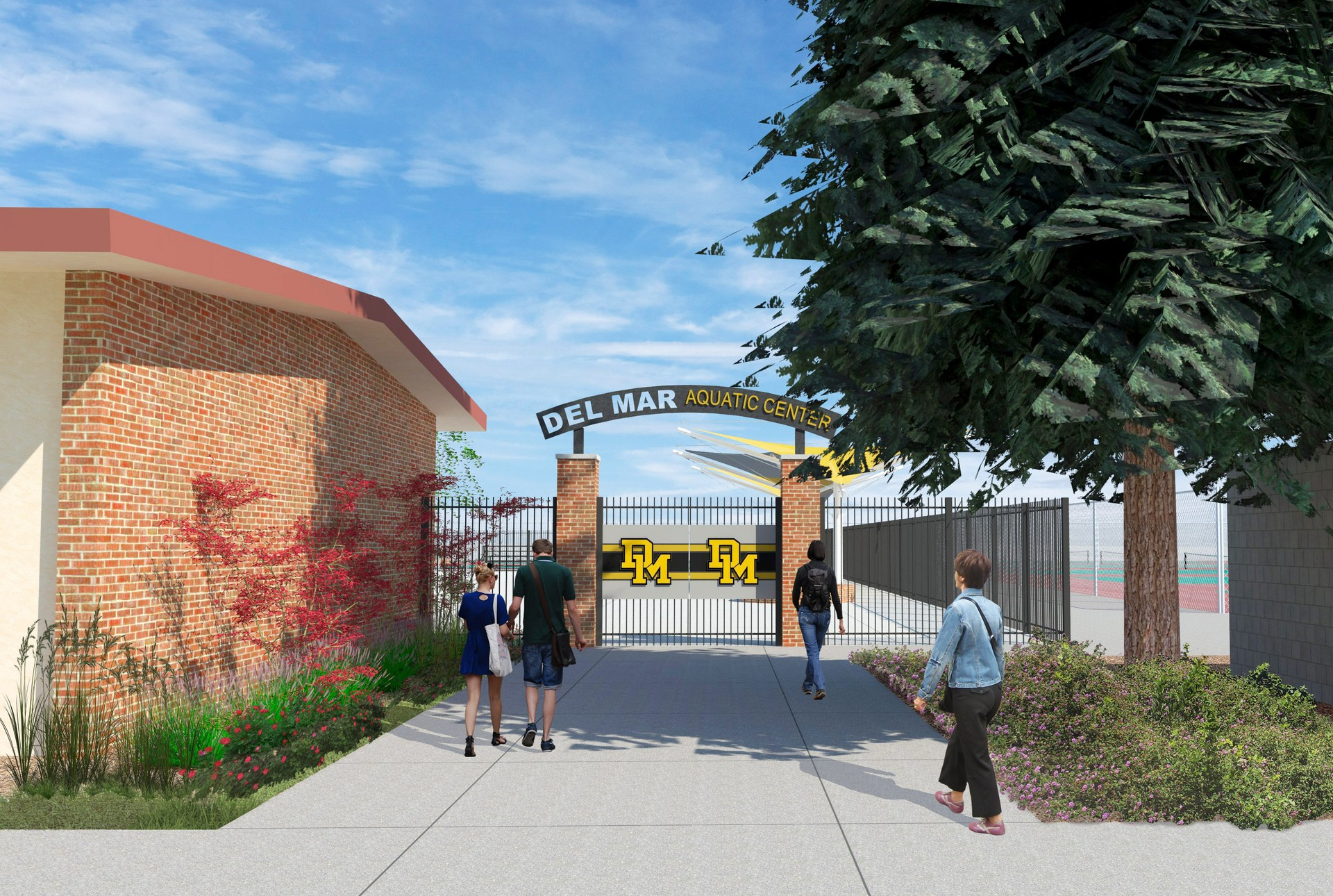 Image of new aquatic center entrance design