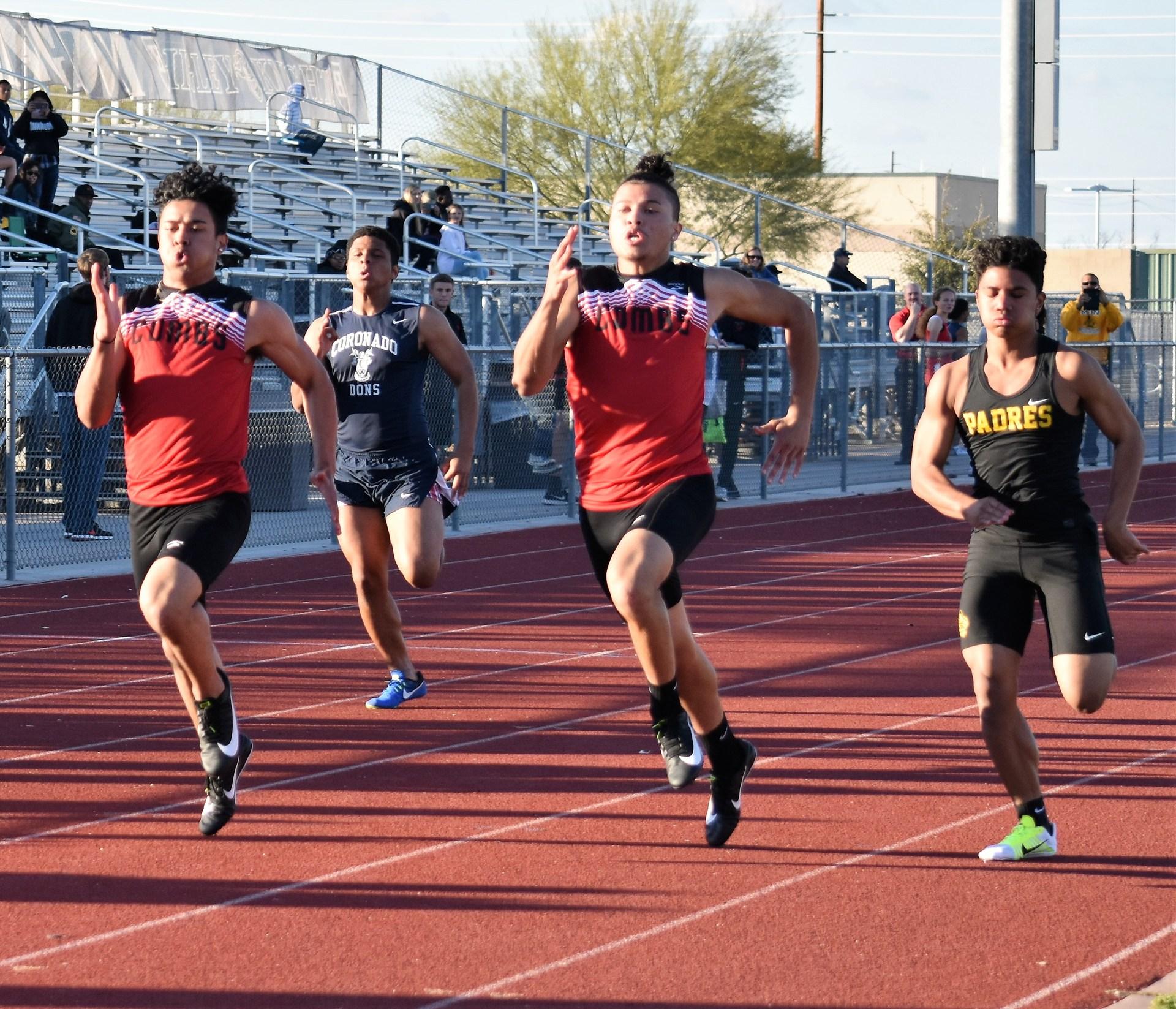 Boys in sprint race