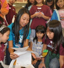 Suz character event with Westhoff students.JPG
