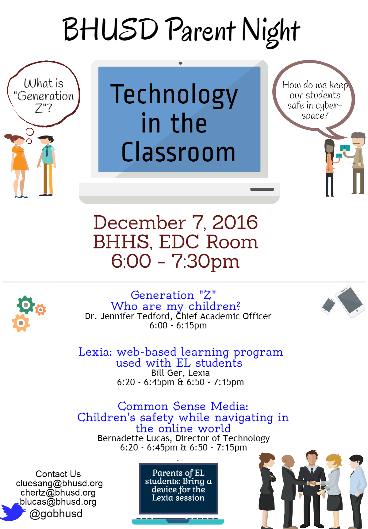 BHUSD EL Technology Parent Night