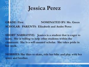 scholar Jessica Perez