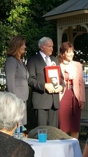 Receiving his award