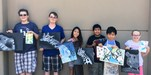 Summer Workshops 2017 participants with their artwork