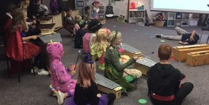 Ms. Brasch directs a small spooky musical theater