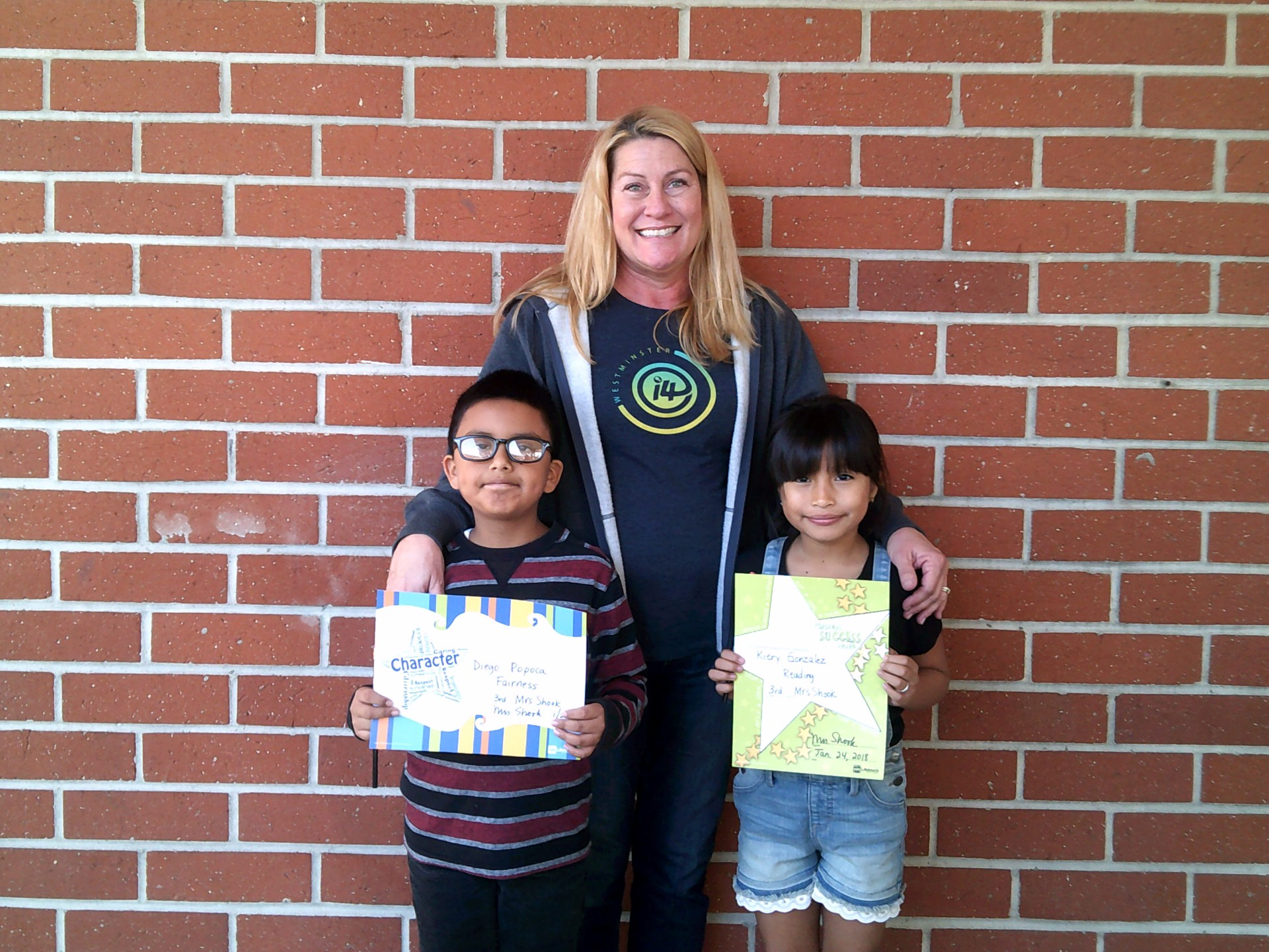 Mrs. Shook's Third Grade Honorees