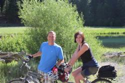 Tandem Riding with Wife Diane
