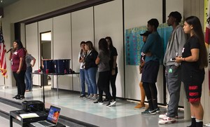 AVID Tutors and MSJC Students share advice to North Mountain Middle School 7th graders on college preparations