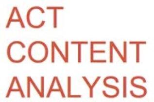 ACT Content Analysis