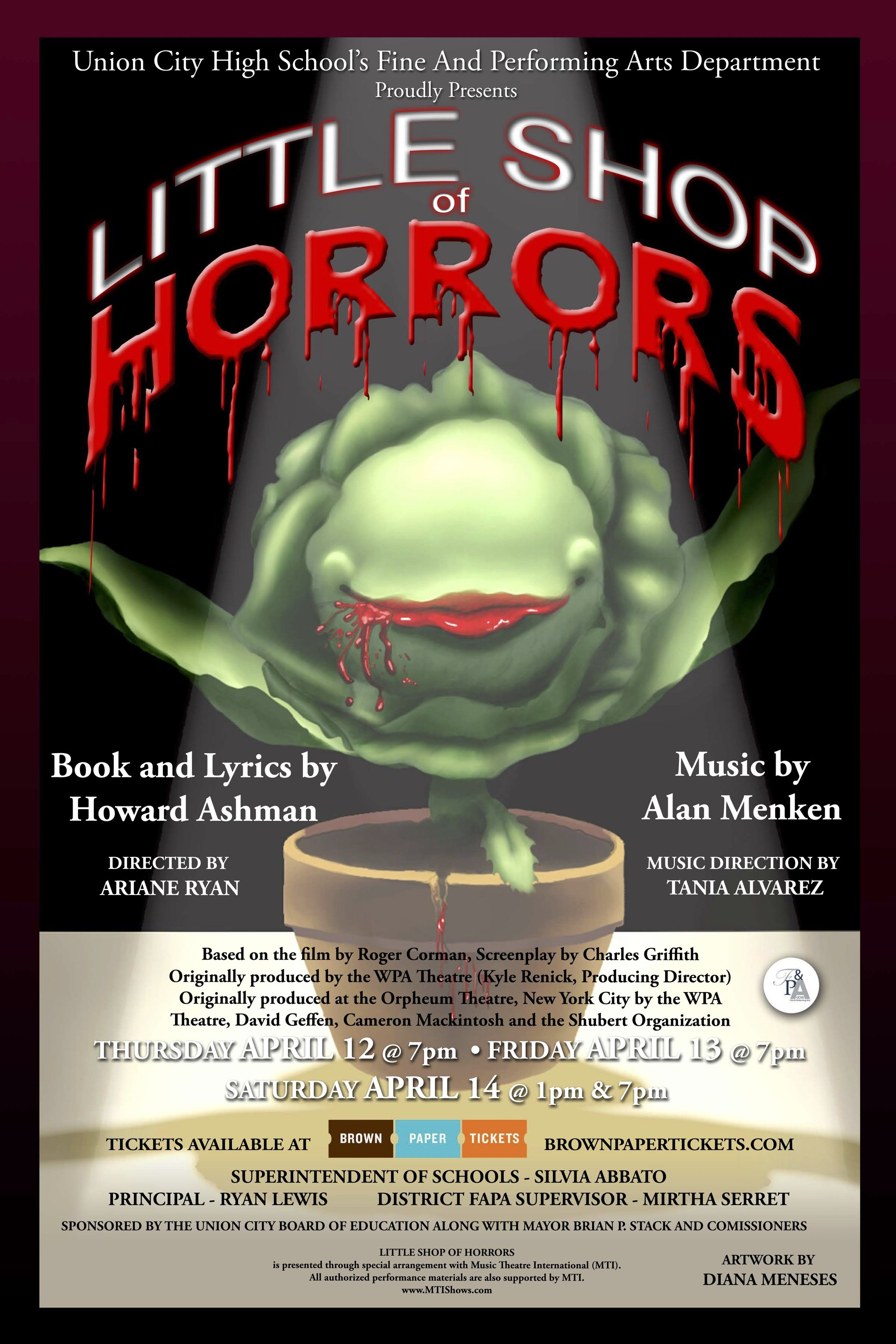 little shop of horrors play flyer