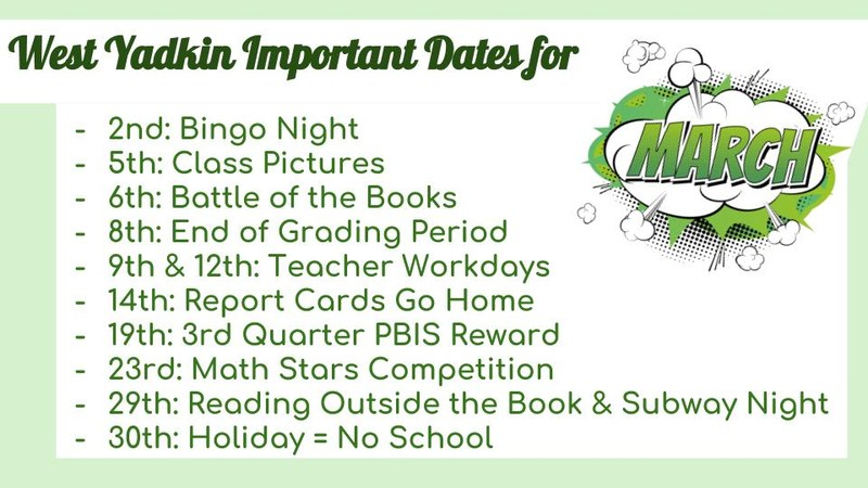 March Important Dates Thumbnail Image