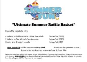 Summer Raffle Basket information
