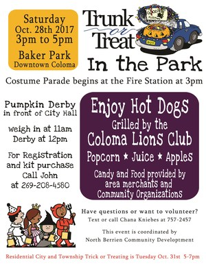 Halloween in the Park Flyer