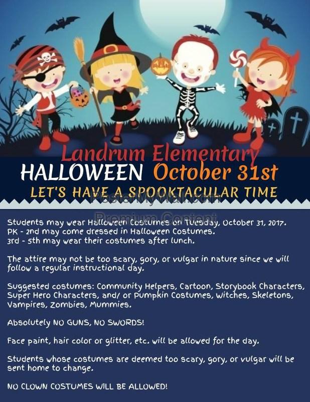 Landrum Halloween Flyer
