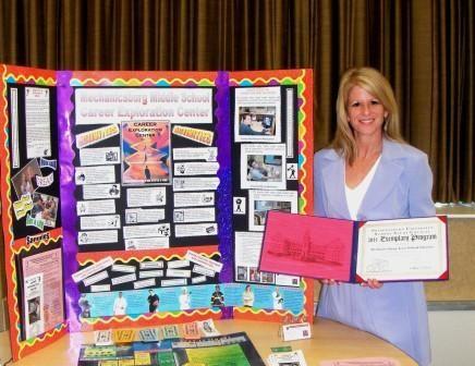 Mrs. Clark Receiving an Award