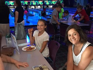 Picture of bowling with teacher
